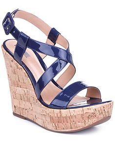 Rue La La — Schutz Leather Wedge Sandal