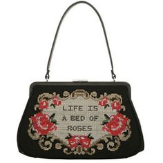 Life is a Bed of Roses Large Dorothy Bag by Lulu Guiness