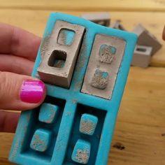 I make Mini Cinder Block Molds! Concrete Crafts, Concrete Art, Brick Molding, Beton Diy, Mini Things, 3d Prints, Miniture Things, Mold Making, Vintage Design