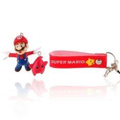 Chaveiro/Pingente Mario e estrela Luma vermelha (Super Mario Bros) | Loja Quarto Geek