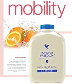 Forever Freedom® has all the benefits of Aloe Vera Gel in a tasty, orange-flavored juice formula. When combined, Glucosamine Sulfate, Chondroitin Sulfate, Vitamin C and MSM provide the first line of support for healthy joint function. Forever Aloe, Forever Living Aloe Vera, Aloe Vera Juice Drink, Aloe Drink, Forever Freedom, Forever Living Business, Forever Living Products, Aloe Vera Gel, Health And Wellbeing