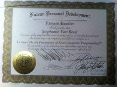 Certified NLP Master Practitioner