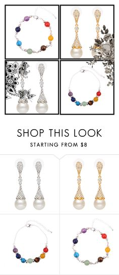 """""""Chakra Bracelet & Dangling earring"""" by ishowyoushowhy on Polyvore"""