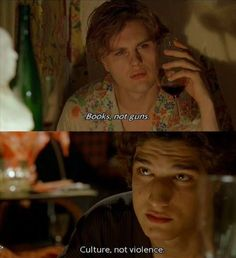"""Books, not guns. Culture, not violence"". - The Dreamers 