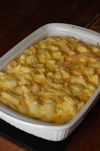 Sausage Brunch Casserole. Love the apples in this dish! Great for breakfast or brunch. A party favorite!