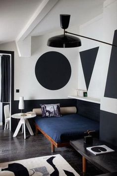 Would you paint giant geometric shapes on your wall in place of art? Consider us intrigued.
