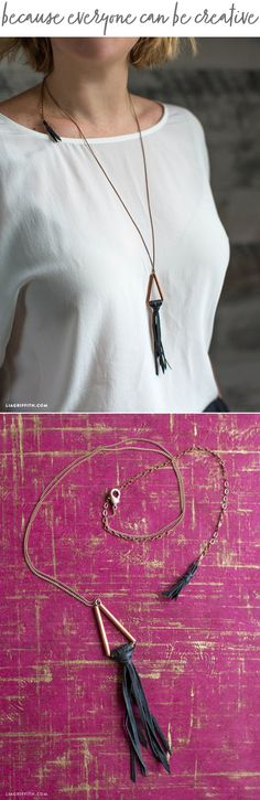 #DIYjewelry You can make this! Tutorial at www.LiaGriffith.com: