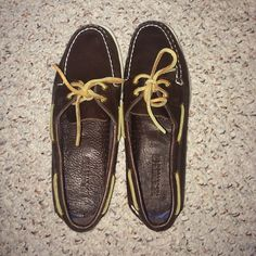 Brown leather sperrys Pretty much new, make offers Sperry Top-Sider Shoes