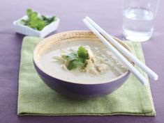 Soupe chinoise au lait de coco 4 pers. | Préparation 10 min. | Cuisson 20 min. | Facile |
