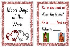 The Maori language resource includes a question and answer speaking frame chart as well as the names of the week cards. Days Of The Week Activities, Learning Activities, Teaching Resources, Sorting Activities, Chinese Lessons, Bilingual Classroom, What Day Is It, Teaching Aids, New Zealand