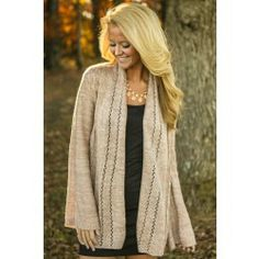 Sweetened With Sugar Cardigan-Blush - $40.00