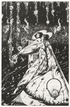 "Harry Clarke ~ Silver Apples of the Moon, from Yeats' ""The Song of the Wandering Aengus"" - 50 Watts"