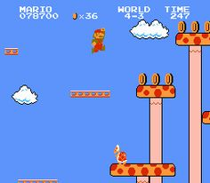 Watch your step, you don't want to fall down one of those pits Mario!
