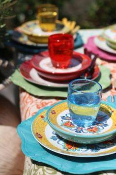 Villa d'Este Home Tivoli Calamoresca Servizio Piatti in Gres e Porcellana, Multicolore, 18 Pezzi: Amazon.it: Casa e cucina