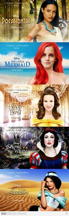 Modern celebrities as Disney princesses...