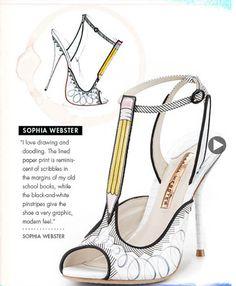 Sophia Webster Shoe Design Illustration