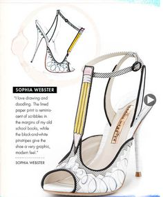 Before they were born  shoe design illustrations  CHIKO SHOES Fashion Blog