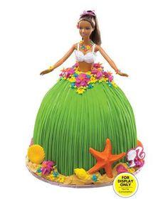 luau barbie cake
