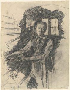 Wilhelm Leibl. Grafito. Adición.