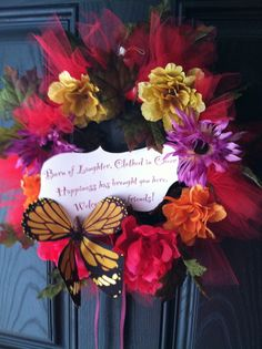 Party Welcome Wreath #wreath #party