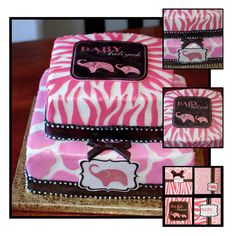 pink safari baby shower ideas | ... went with another jungle theme, but wanted this theme for the cake