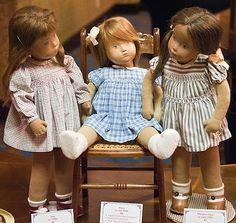 Sasha Morganthaler studio dolls, c.1950s-1960s, made in Switzerland.