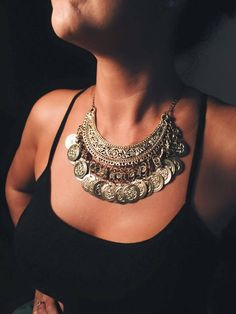 Collar Con monedas - Comprar en Maria Gracia en India
