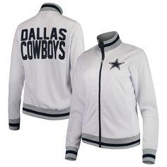 Dallas Cowboys Women s Field Goal Full-Zip Track Jacket – White 46121f6da