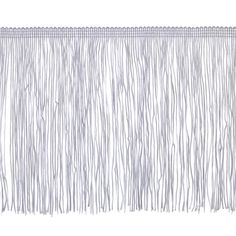 """6"""" Chainette Fringe Trim White from @fabricdotcom  This fringe is a beautiful finishing touch on pillows, draperies, costumes and more. It features a 3/8'' header and 6'' long fringe."""