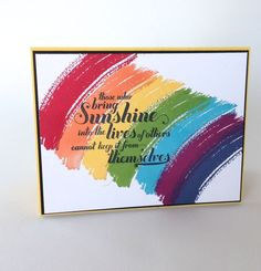 Create a rainbow using Work of Art and Feel Goods stamp sets by Stampin' Up!