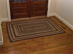 Shades Of Brown Braided Rug, 8'x10' By Park Design