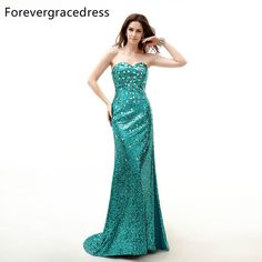 Special Occasion Dresses · Forevergracedress Real Sample Evening Dress  Mermaid Sweetheart Sleeveless Sequins Split Lace Up Long Formal Party Gown c48c69452030