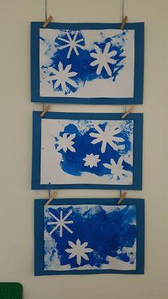 Autumn Art, Winter Art, Winter Crafts For Kids, Diy Crafts For Kids, Painting For Kids, Art For Kids, Snow Crafts, Fall Art Projects, Art Plastique
