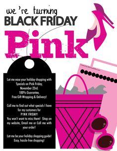 Mary Kay invite ideas - Turning Black Friday, PINK! :)