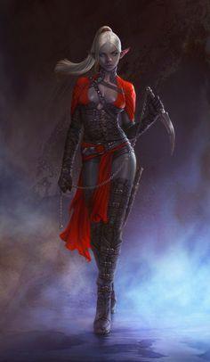 Dark Elf Assassin [ female, drow, warrior, rogue ]