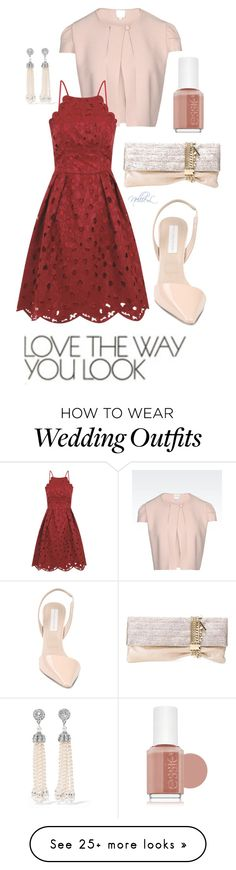 """""""Wedding Guest 101"""" by nellie-leef on Polyvore featuring Armani Collezioni, Chi Chi, Ben-Amun, STELLA McCARTNEY, Jimmy Choo and Essie"""
