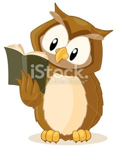 Fully Editable Vector Illustration Of A Wise Owl Reading Book