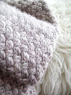 Basketweave scarf close-up by coco knits, via Flickr