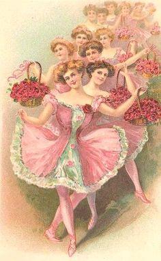 Victorian dancing girls http://www.pinterest.com/eslom53/laminas-y-papel/