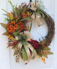 Fall WreathFall Grapevine Wreath Fall Front Door Wreath
