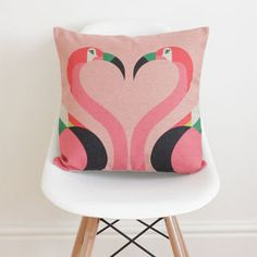 Geometric Flamingos Cushion Cover - living room quirky bee