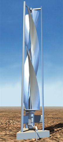 Vertikale Windkrafträder, Neuste Ideen, die schon über 900 Jahre alt sind. 50% mehr Energie als in der horizontalen Technik