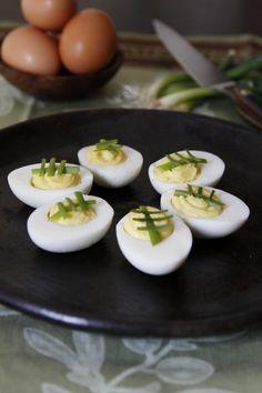 Football Deviled Eggs for Super Bowl Sunday