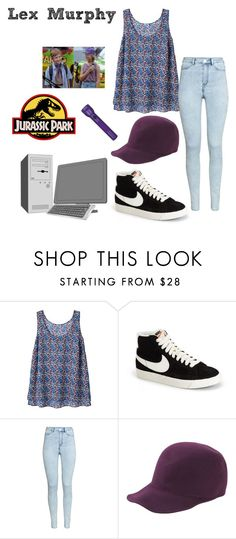 """Lex Murphy - Jurassic Park"" by ashleigh-kuzio on Polyvore featuring NIKE, H&M, Forte Forte and Maglite"