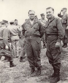 Elder Harold B. Lee (right) during the Korean War. {Photo Gallery: Latter-day Saints in the Military Through History}