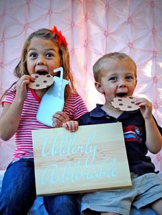 Milk & Cookie Party Picture Booth