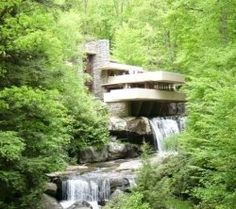 Frank Lloyd Wright's Falling Waters house....iconic.