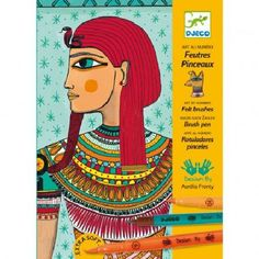 Djeco Egyptian art `One size Details : 4 illustrated sheet(s), 8 Felt tip pen(s) * Age : Age 6 and upwards * Box 16.5 x 23 x 4 cm. http://www.MightGet.com/january-2017-13/djeco-egyptian-art-one-size.asp