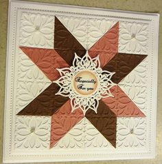 Hi guys, today I am showcasing my quilt card using the Damask Motifs. There is another colour way that I did this card in and I will pos...