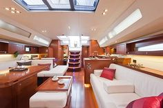 The interior of the Beneteau 45 is not uncomfortable.  Whether you like the modern, European style or prefer a more traditional, American style nautical look is a matter of taste.  The French builders like Beneteau and Jeanneau favor a modern aesthetic, like a sleek Paris or New York apartment.